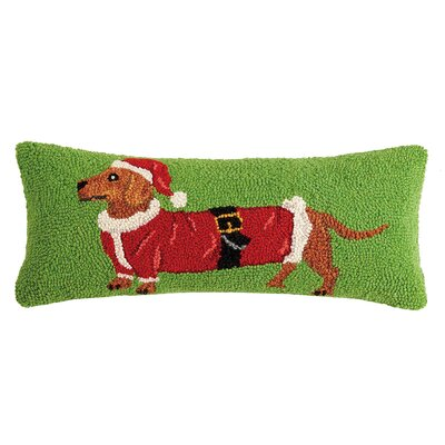 Holiday Dogs Lumbar Throw Pillow