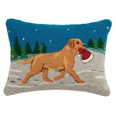 Holiday Dogs Wool Lumbar Pillow