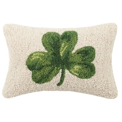 Shamrock Hook Wool Lumbar Pillow