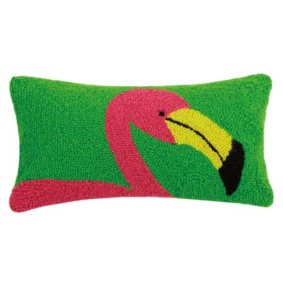 Granby Flamingo Wool Lumbar Pillow