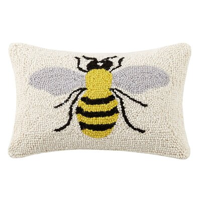 Beeks Bee Hook Wool Throw Pillow