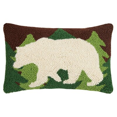 Tavares Canoe Bear Wool Lumbar Pillow