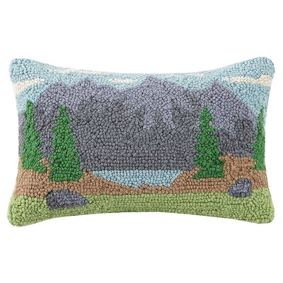 Rochon Mountain and Tent Wool Lumbar Pillow