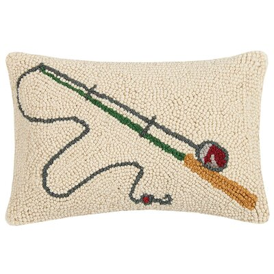 Schwarz Fishing Rod and Bass Wool Lumbar Pillow