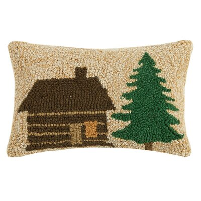 Swofford Lodge and Tree Wool Lumbar Pillow