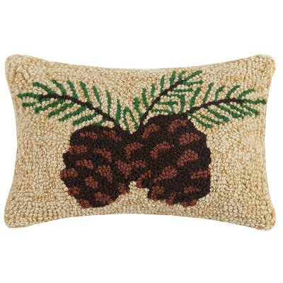 Cantline Lodge and Tree Wool Lumbar Pillow