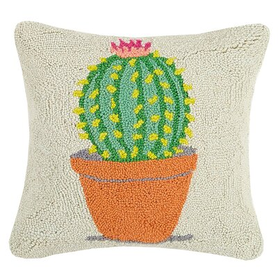 Infant Festival Potted Cactus Hook Throw Pillow