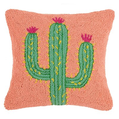 Bruening Cactus and Kilim Wool Throw Pillow