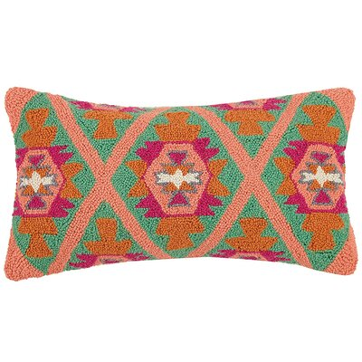 Broxton New Festival Kilim Wool Hook Lumbar Pillow