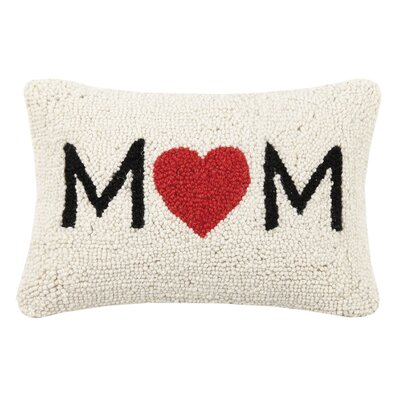 Clarendon Mom Heart and Love You Wool Lumbar Pillow