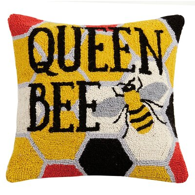 Weiner Queen Bee Hook Wool Throw Pillow