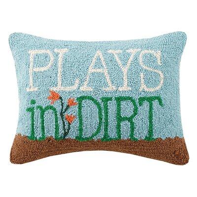 Banty Plays in Dirt Hook Wool Lumbar Pillow