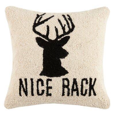 Kafka Nice Rack Deer Wool Throw Pillow