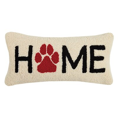 Wieczerza Home Paw Wool Lumbar Pillow
