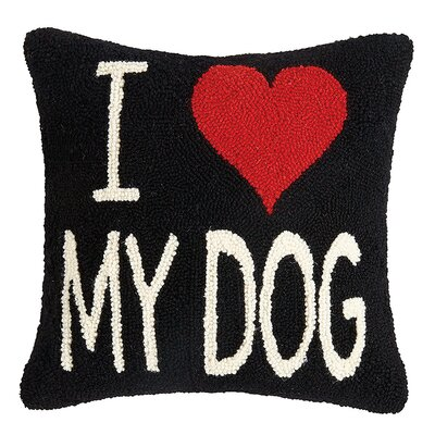 Altimari I Love My Dog Wool Throw Pillow