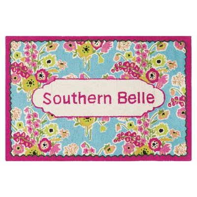 Aysha Southern Belle Hand Hooked Wool Pink Area Rug
