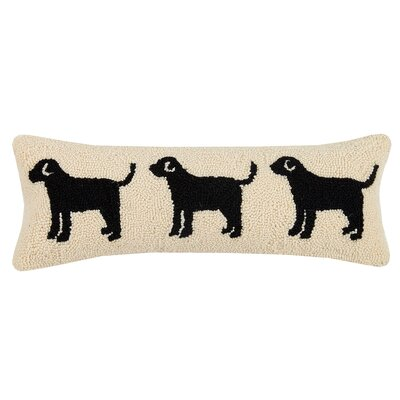 Zerdelian Dog and Cat Trio Wool Lumbar Pillow