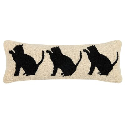 Langholz Dog and Cat Trio Wool Lumbar Pillow