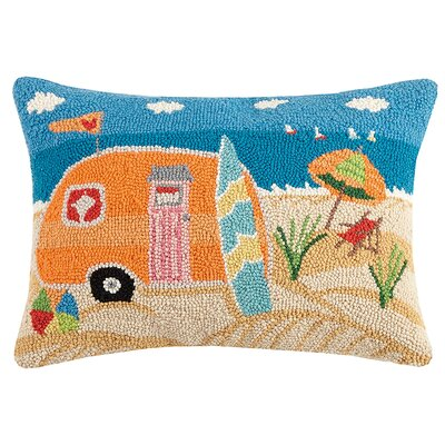 Oakfield Beach Caravan Hook Wool Lumbar Pillow