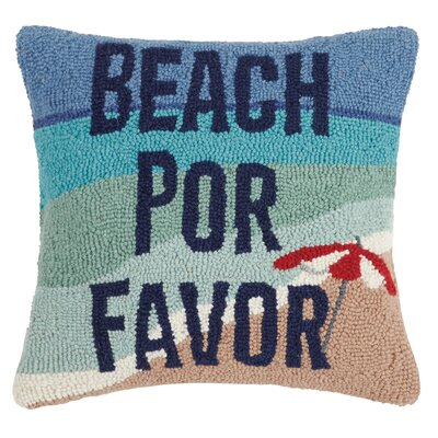 Bure Beach Por Favor Wool Throw Pillow