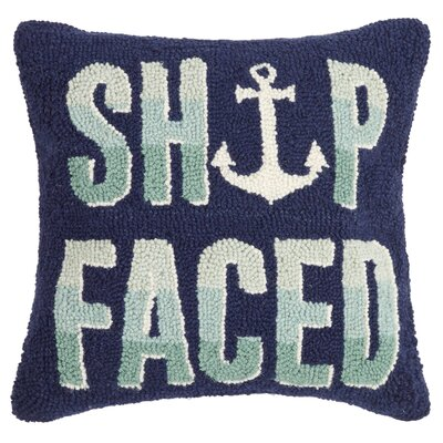 Knowlson Ship Faced Wool Throw Pillow