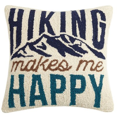 Vilanova Happy Hiking Wool Throw Pillow