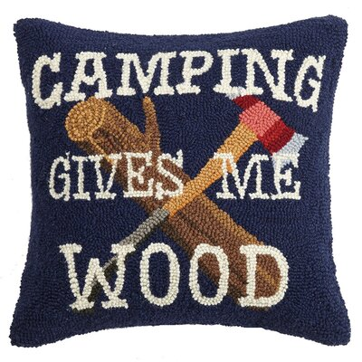 Moll Happy Hiking Wool Throw Pillow