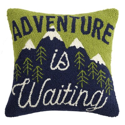 Panzer Happy Hiking Wool Throw Pillow