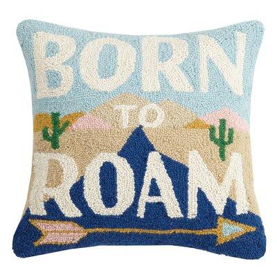 Creasman Born To Roam Wool Throw Pillow