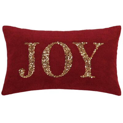 Sorrento Holiday Traditiona Beaded 100% Cotton Lumbar Pillow