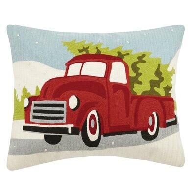 Naomi Holiday Rectangular Crewel 100% Cotton Lumbar Pillow