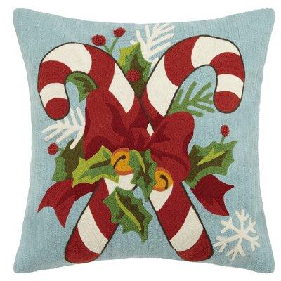 Delane Holiday Crewel 100% Cotton Throw Pillow