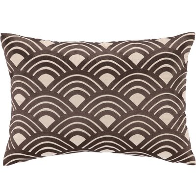 Quincy Lumbar Pillow Color: Brown and Cream