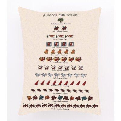 Needlepoint Dogs Christmas Cotton Throw Pillow