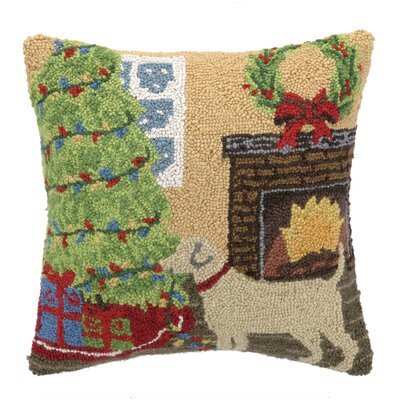 Christmas Lab Hook Decorative Pillow