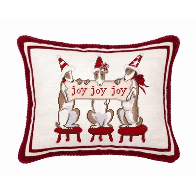 Joy Dogs Wool / Cotton Pillow