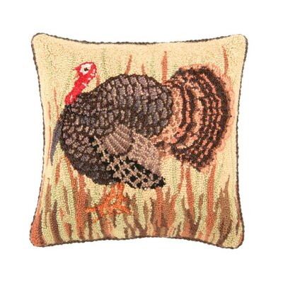 Wild Turkey Wool Throw Pillow