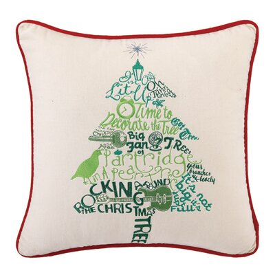 Bon Mots Tree Throw Pillow