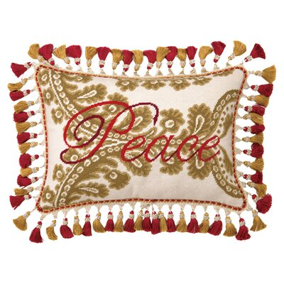 Christmas Manor Wool Lumbar Pillow