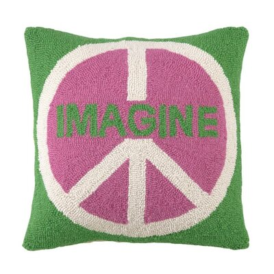 Imagine Peace Wool Throw Pillow