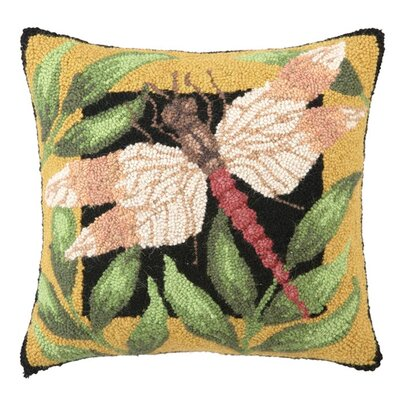 Dragonfly Wool Throw Pillow