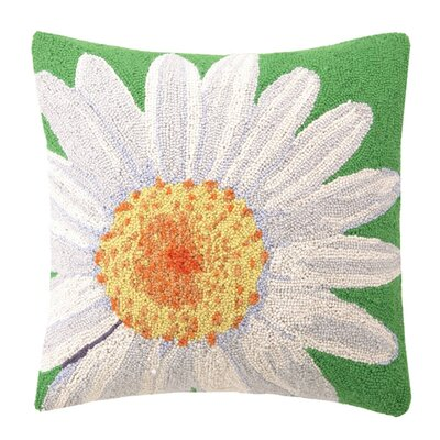 Cheap White Daisy Wool Throw Pillow for sale