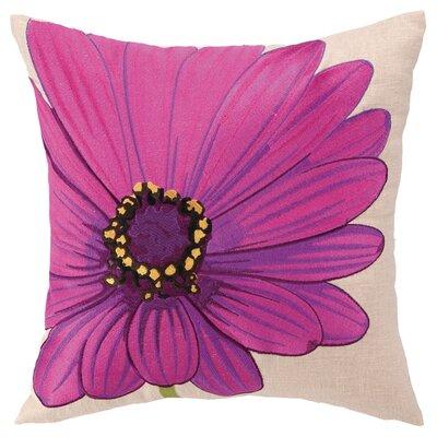 Daisy Linen Throw Pillow