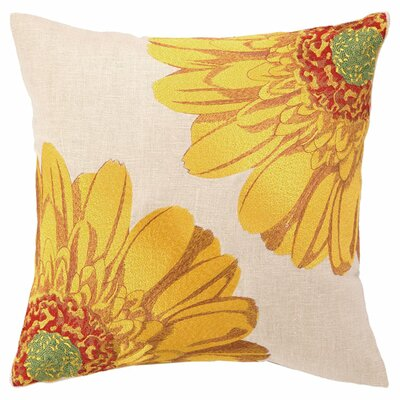 Gerbera I Linen Throw Pillow