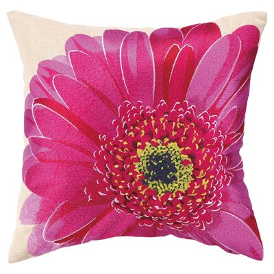Gerbera II Linen Throw Pillow