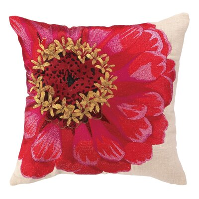 Zinnia Linen Throw Pillow