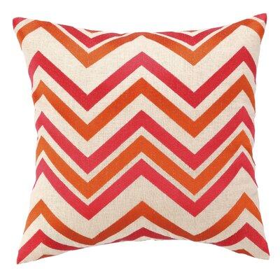 Courtney Cachet Chevron Embroidered Decorative Throw Pillow Color: Orange/Pink