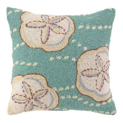 Tropics Sand Dollar Wool Throw Pillow