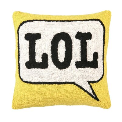 LOL Wool Throw Pillow