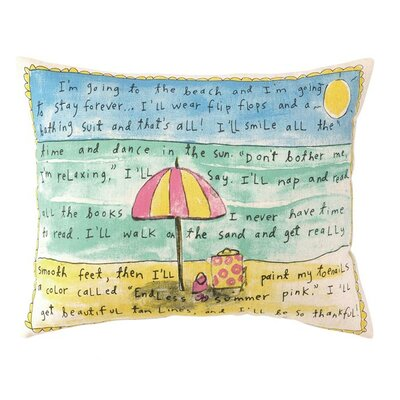 Beach Forever  Linen Lumbar Pillow
